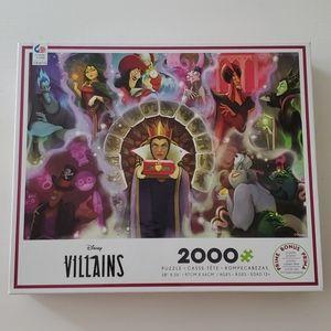 2000pc Disney Villains Puzzle + Poster